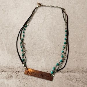 """Plunder Designs """"Bless Your Heart"""" Necklace"""
